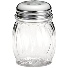 Tablecraft Shaker Glass with Chrome Plated Perforated Top, 6-Ounce