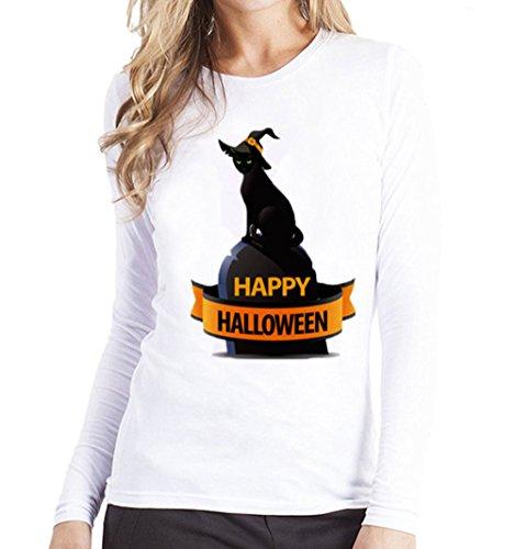 Clearance Sale!Toimoth Women Plus Size Printing Tees Shirt Long Sleeve T Shirt Blouse (BlackB,L2) -