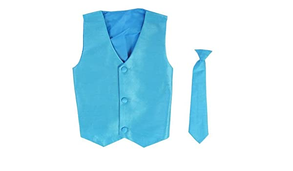 Chaleco y Clip On Baby Boy Corbata conjunto - AQUA - 4T Color ...