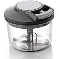 skycity 650ml Handy Plastic Chopper with Pull Cord Technology and 3 Stainless Steel Blades Eco Friendly Design Vegetable & Fruit Chopper (Multicolor)