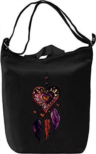 Heart Dream Catcher Borsa Giornaliera Canvas Canvas Day Bag| 100% Premium Cotton Canvas| DTG Printing|