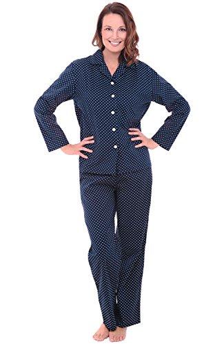 Del-Rossa-Womens-Cotton-Pajamas-Long-Woven-Pj-Set