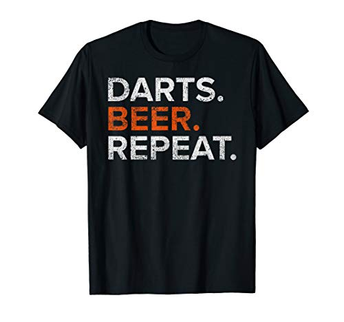 Vintage Darts Beer Repeat Funny Distressed T-Shirt
