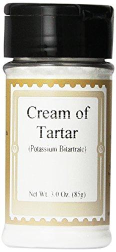 Cream of Tartar (Potassium Bitartrate), 3oz. - Meringue Cream Of Tartar