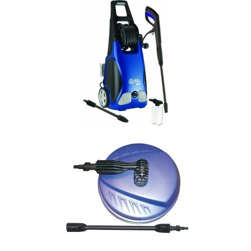 Price comparison product image AR Blue Clean AR383 1, 900 PSI 1.5 GPM 14 Amp Electric Pressure Washer with Hose Reel and Surface Cleaner Bundle