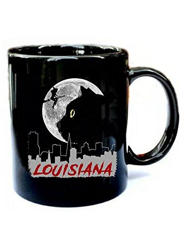Louisiana halloween Black Cat - Funny Gift Black