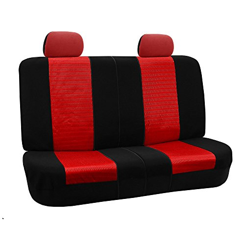 red and black bench seat cover - 9