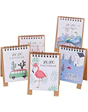 STOBOK Cute Animal Desk Calendars 2020 Desktop Calendars Monthly Daily Schedule Planner Pad for Home Office 5-Pack