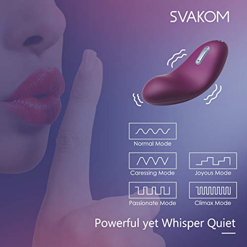 SVAKOM Echo Adult Sex Toys Vagina and Clitoris Vibrating Vibrators Mini Rechargeable Luxury Women Clitorial Vibes Stimulation Masturbation Sexual Wellness for Women(Violet) by SVAKOM (Image #6)'