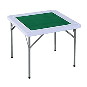 Homcom folding card table w cup holders for 12 in 1 game table walmart