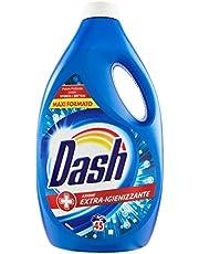 Dash Vloeibaar wasmiddel voor wasmachine, 45 wasbeurten, extra hygiënisch, maxi-formaat, verwijdert vlekken, voor alle kledingstukken.