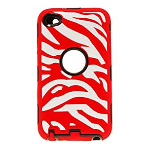 YXF 2-in-1 Design Zebra Stripe Pattern Protective Case for iPod Touch 4 (Assorted Colors) , Blue