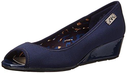 Anne Klein Sport Women's Camrynne Dress Pump, Navy, 8.5 M US - Navy Blue Wedge Shoes: Amazon.com