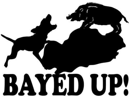 hog hunting window decals - 9