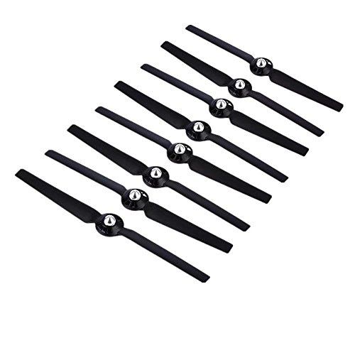 HonsCreat New 4 Pairs Black Propellers Rotor Blade Sets A and B for YUNEEC Typhoon G Q500 Q500+ Q500 4K RC Air Force Airplane Helicopter Propeller Quadcopter Drone ()