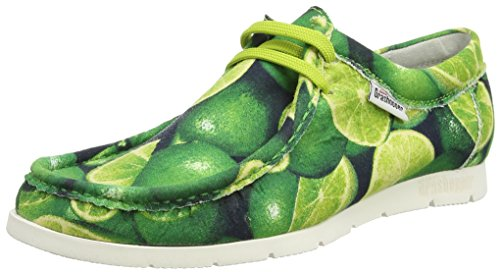 Sioux Ladies Grashopper-d-141 Mocassino Stampa Cotone Verde (lime)