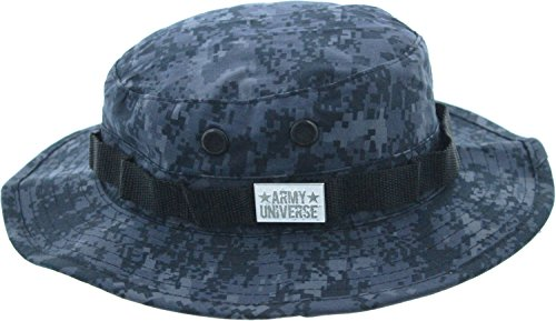 Army Universe Midnight Blue Digital Camouflage Tactical Boonie Bucket Hat Pin - Size X-Large 7 ()