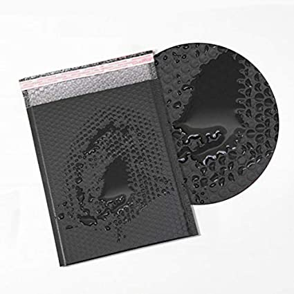 confezione da 5 pezzi colore: nero 25 * 30+4 cm Buste imbottite autoadesive Harddo