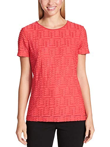 (Calvin Klein Women's Stretch Textured Shirt (Watermelon, Medium))