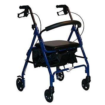Andador con asiento rollator freno bici: Amazon.es: Salud y ...