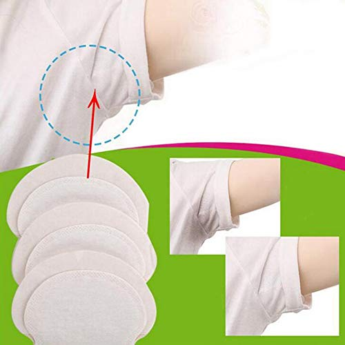 Underarm Sweat Pads,Disposable Absorbent Underarm Dress Shields,Perspiration Sweat Pad,Fight Hyperhidrosis,Odor Blocker,100PCS Antiperspirant Adhesive Underarm Pads For Women/Men (Shields Underarm Perspiration)