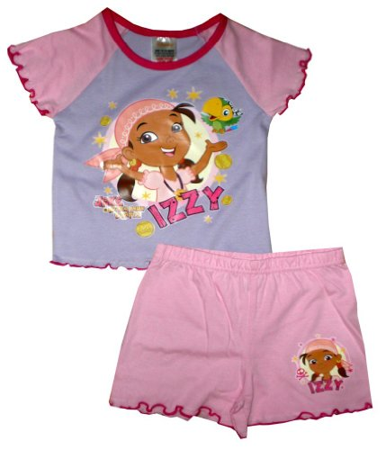 Disney Girl's Jake Neverland Pirates Izzy Shortie Pajamas 18 - 24 Months Light Pink (Jake And The Neverland Pirate Characters)