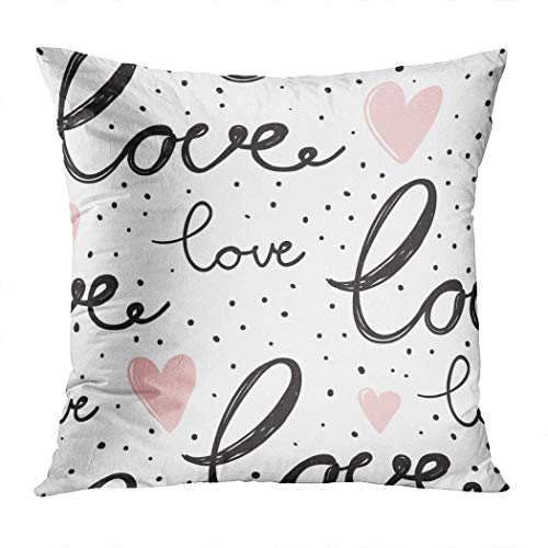 Janyho Throw Pillow Cover Love Lettering Word Script