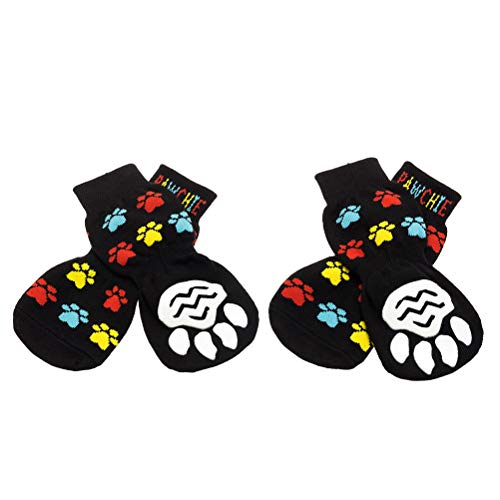PAWCHIE Anti-Slip Dog Socks for Hardwood Floors, Pet Paw Protection for Injured Paw, Indoor Wear (Best Hardwood Floors For Large Dogs)