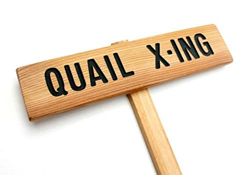 QUAIL X-ING Sign, Quail sign, Hand Routed Sign, Carved for sale  Delivered anywhere in USA