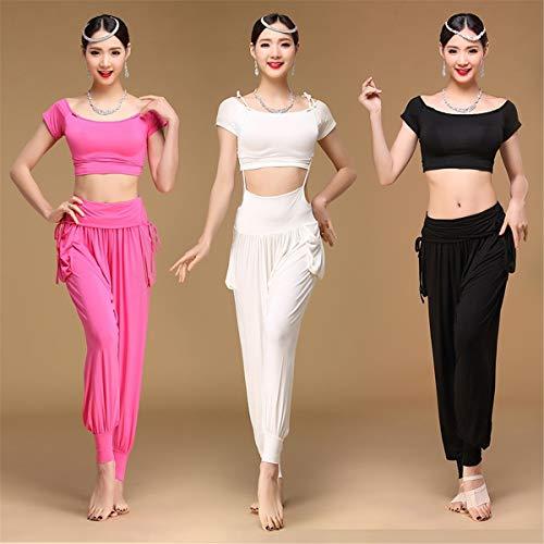 Bloom Modale Adulto White Di Danza Ballo Vestiti Pantaloni Abiti Ventre Del Materiale Vest Pratica Da amp;q H Femminile Tuta xR47CC