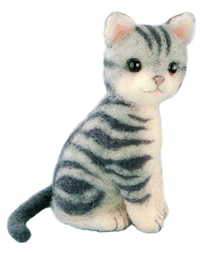 Hamanaka made in felt wool kit fluffy wool, felt cat American Shorthair H441-426 Designed by Susa SunaTomoko