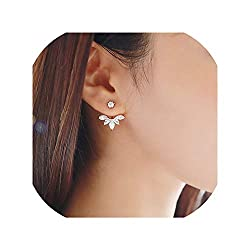 Women's Crystal Flower Drop Earrings