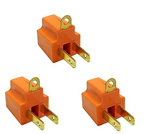 (C&E 3 PCS 3 Prong to 2 Prong Grounding Converter, CNE614038)