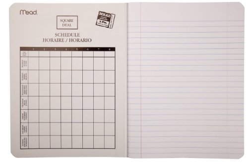 Mead Composition Book, Notebook, Wide Ruled, 9.75 x 7.5 Inch, Blue (72251) Photo #4
