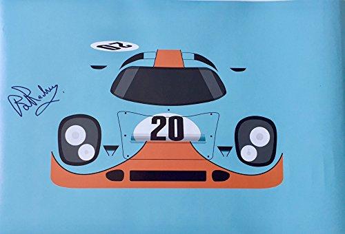 (Nicolas Hunziker Gulf Porsche 917K Le Mans 24 Hours 1970 Poster Autographed by Brian Redman)