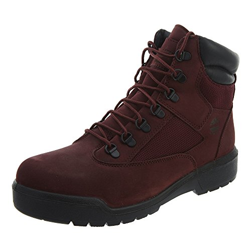 (Timberland Men's 6 in Field Boot (13 (D) M US, Burgundy/Dark Port))