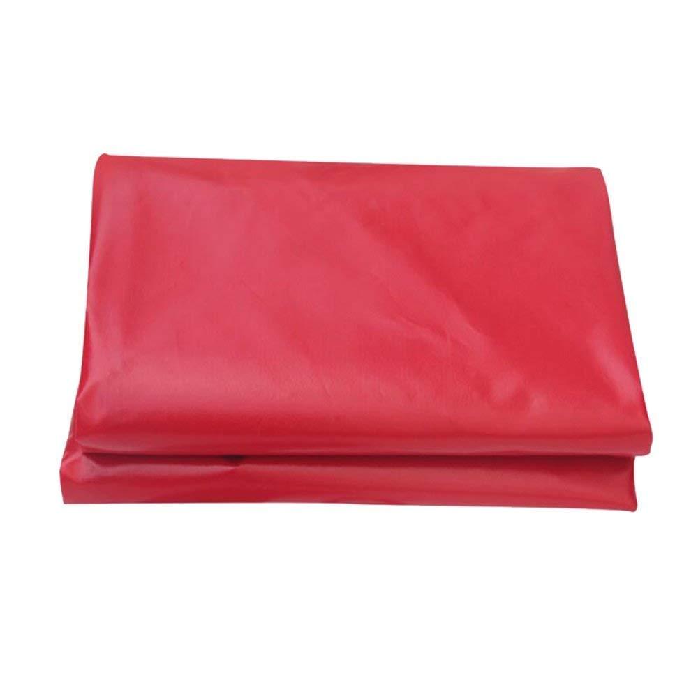 MSF Zeltplanen Hochleistungsplanen-Autodach-Regen-Abdeckung im Freien kampierendes wasserdichtes Tarpenzelt (450g   m² Stärke 0.3mm (Rot (größe   4x4m)