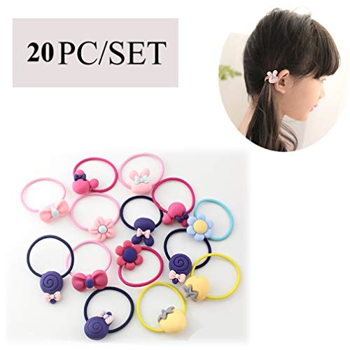 4EAELove Bow Elastic Hair Ties Floral Hair Accessories Bow-Knot Stretch Hair Rubber Band Set Ponytail Holders Headband Scrunchie Hair Ropes Mixed