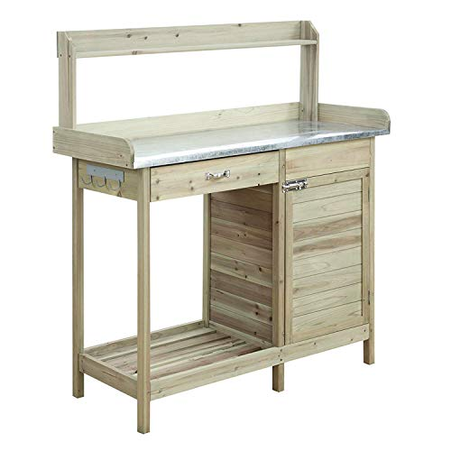 - Convenience Concepts G10440N Deluxe Potting Bench with Cabinet