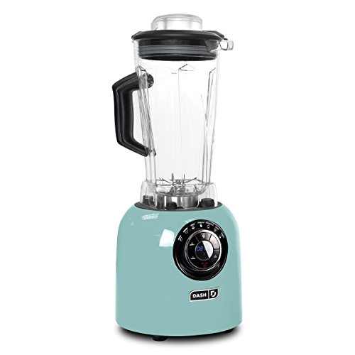 Dash Chef Series 64 oz Blender with Stainless Steel Blades + Digital Display for Coffee Drinks, Frozen Cocktails, Smoothies, Soup, Fondue & More - Aqua