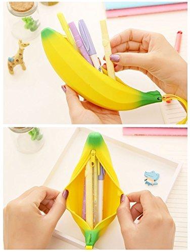 (Sunny W Big Capacity Banana Pen Bag Pencil Case)