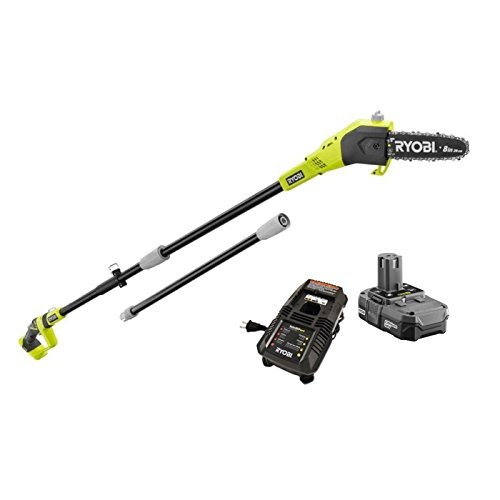 Factory-Reconditioned Ryobi ZRP4361 One Plus 18V Cordless Lithium-Ion 8 in. Pole Saw, Model: ZRP4361 , Home & Outdoor Store by Garden & Patio