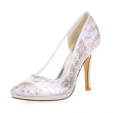 La Mujer Señaló Talón Shoesstiletto Toe Bombas/Talones Bodas/Parte &Amp; Noche Negro/Azul/Rosa/Rojo/Blanco/Marfil/Oro 4A-4 De Oro De 3/4 Pulg. Ivory