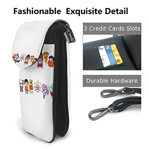 HYJUK Mobiltelefon crossbody väska Ryan's World liten crossbody mobiltelefon handväska PU mini messenger axelväska plånbok för kvinnor