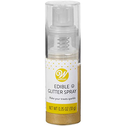 - Wilton Edible Gold Glitter Spray, 0.35 oz.