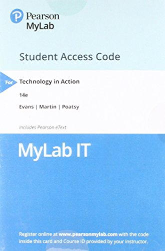 MyITLab with Pearson eText -- Access Card -- for Technology in Action