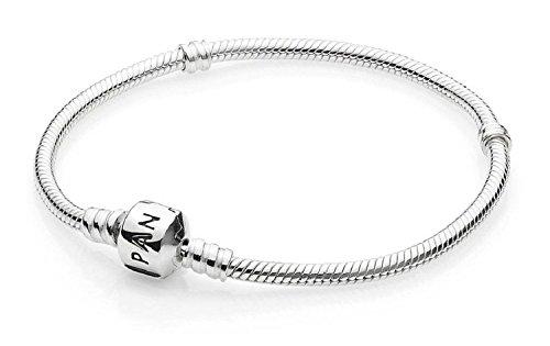 PANDORA Silver Bracelet Snap clasp 590702HV-19 7.5 inch