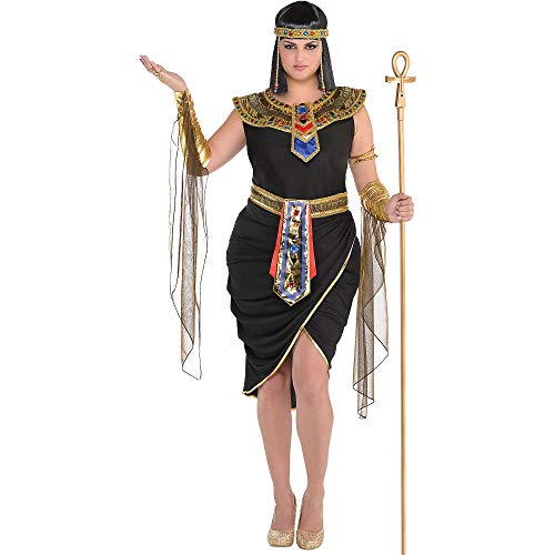 Suit Yourself Egyptian Queen Cleopatra Costume for Adults, Plus Size, Includes a Dress, a Headpiece, a Collar, and More -