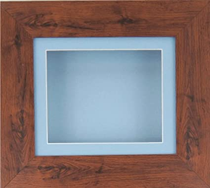 Caja BabyRice de profundidad pantalla marco para 2d 3d objetos de arte medalla silverjgift bebé arroja 1st patucos flores azul/azul soporte/azul base vWu7C