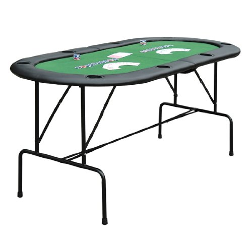HomCom Deluxe Foldable 72 in. Oval Poker and Game Table by HOMCOM